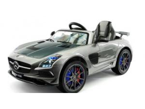 Mercedes SLS 12 V Metallic Zilver - Final Carbon Edition - MP4 TV - Softstart