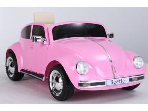 Volkswagen Beetle Roze - Softstart - Lederen Stoel